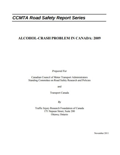 The Alcohol-Crash Problem in Canada: 2009