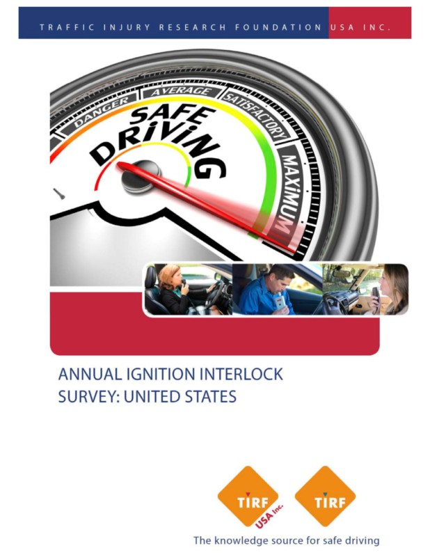 New TIRF USA, Inc. Report: Annual Ignition Interlock Survey: United States