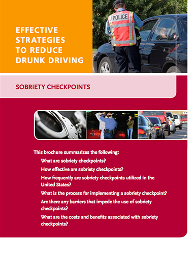 Effective Strategies to Reduce Drunk Driving – Sobriety Checkpoints