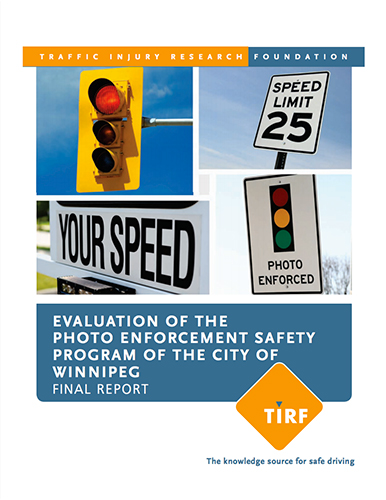 Evaluation of the Photo Enforcement Safety Program of the City of Winnipeg: Final Report