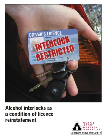 Alcohol interlocks as a condition of licence reinstatement