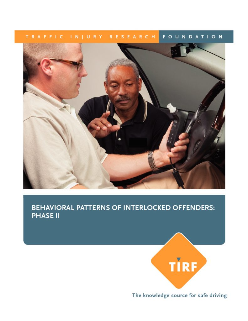 New TIRF Report: Behavioral Patterns of Interlocked Offenders: Phase II