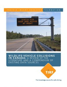 Wildlife-Vehicle Collisions In Canada: A Review Of The Literature And A Compendium Of Existing Data Sources
