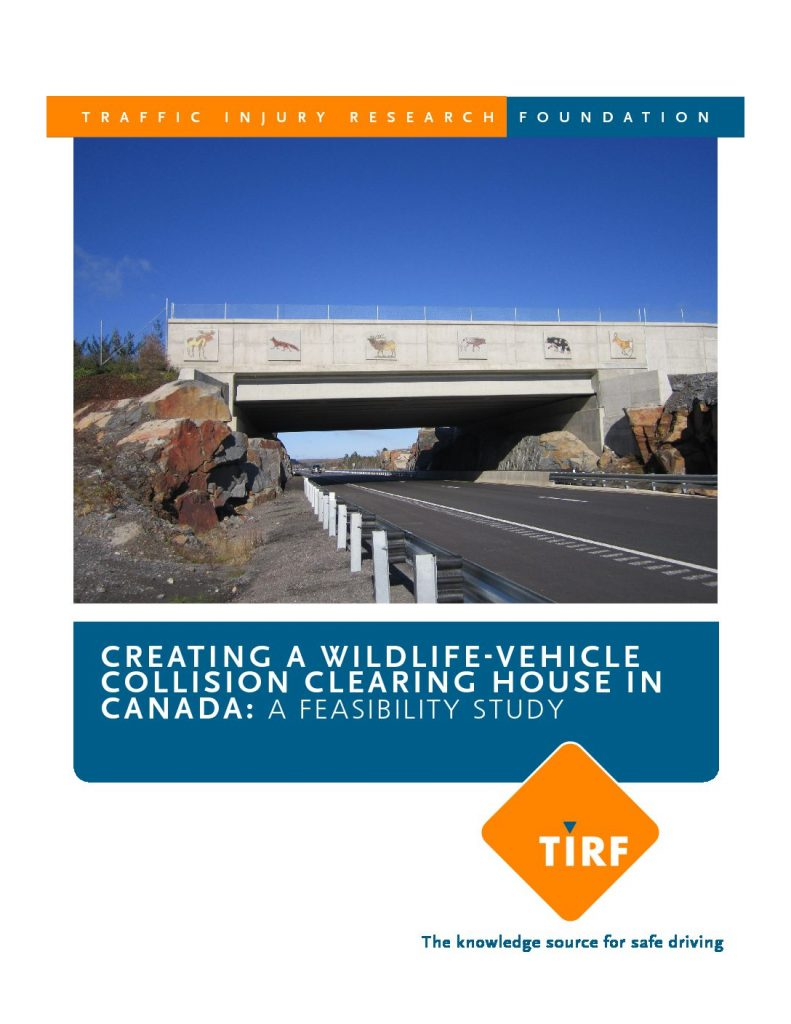 Creating A Wildlife-Vehicle Collision Clearing House In Canada: A Feasibility Study