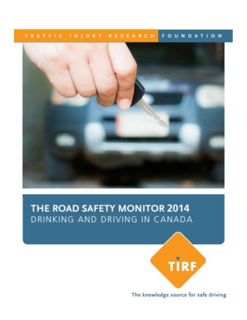 The Road Safety Monitor 2014: Drinking and Driving in Canada
