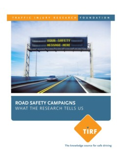 Road Safety Campaigns – What the Research Tells Us
