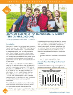 Alcohol and Drug Use Among Fatally Injured Teen Drivers