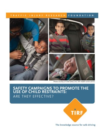 Road Safety Campaigns to Promote the Use of Child Restraints: Are They Effective?