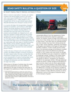 Road Safety Bulletin: A Question of Size
