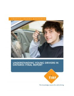 Understanding Young Drivers in Ontario: Final Report