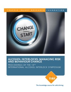 TIRF prepares for upcoming 15th International Alcohol Interlock Symposium; releases 14th Symposium Proceedings