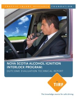 Nova Scotia Alcohol Ignition Interlock Program: Outcome Evaluation – Technical Report