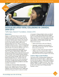 Fatigue-Related Fatal Collisions, 2000-2013