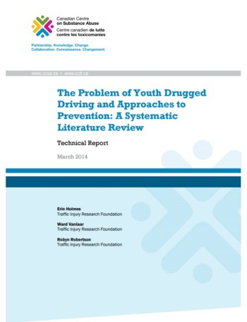 New Report: The Problem of Youth Drugged Driving and Approaches to Prevention: A Systematic Literature Review