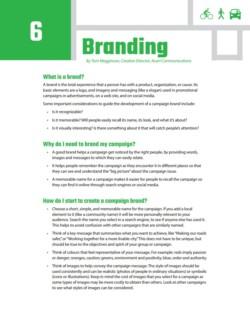 TIRF Toolkit Factsheets – Branding