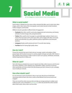 TIRF Toolkit Factsheets – Social Media