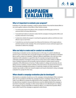 TIRF Toolkit Factsheets – Evaluation