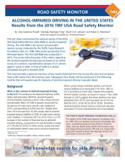 Alcohol-Impaired Driving in the United States. Results from the 2016 TIRF USA Road Safety Monitor.