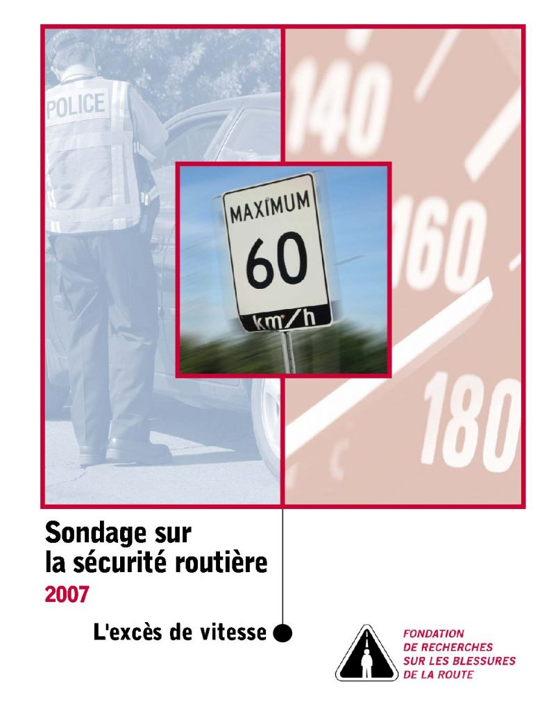 Sondage sur la sécurité routière 2007 : L'excès de vitesse