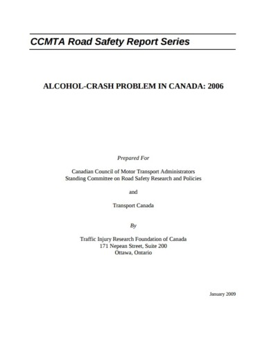 The Alcohol-Crash Problem in Canada: 2006