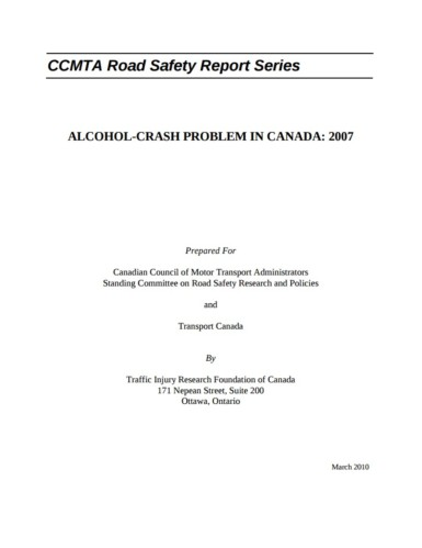 The Alcohol-Crash Problem in Canada: 2007