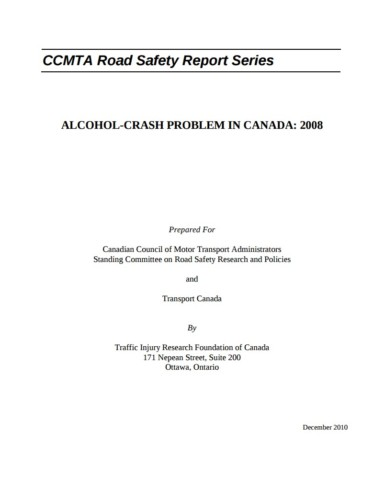 The Alcohol-Crash Problem in Canada: 2008