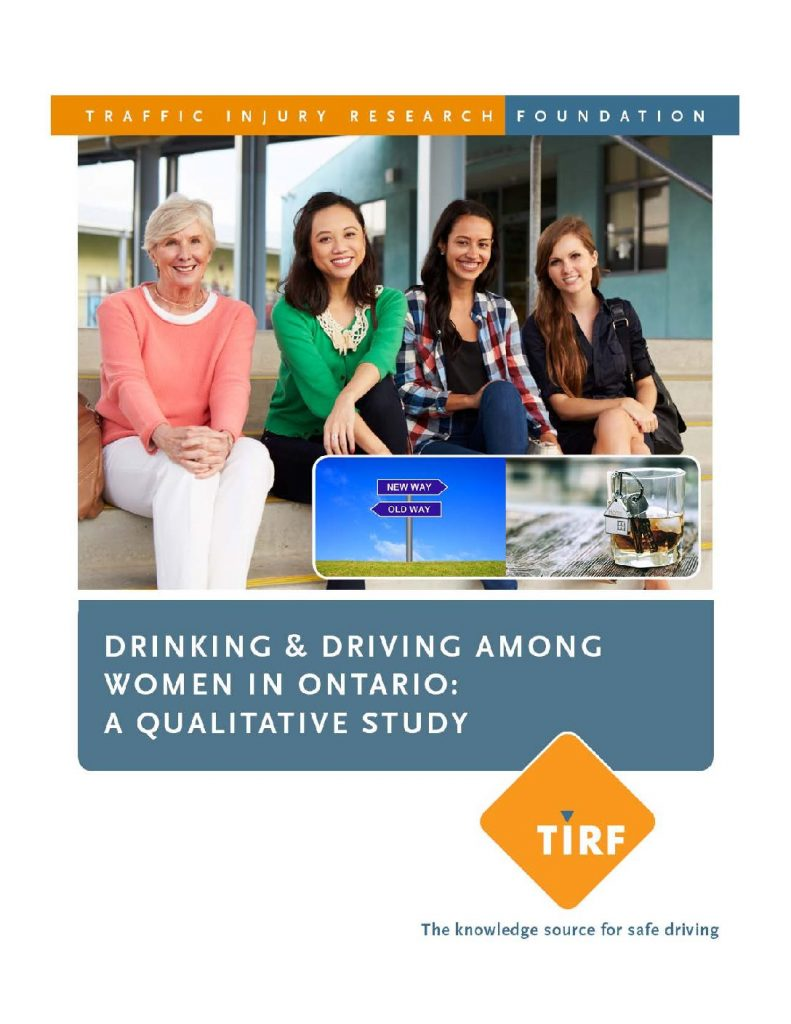 Drinking & Driving Among Women in Ontario: A Qualitative Study
