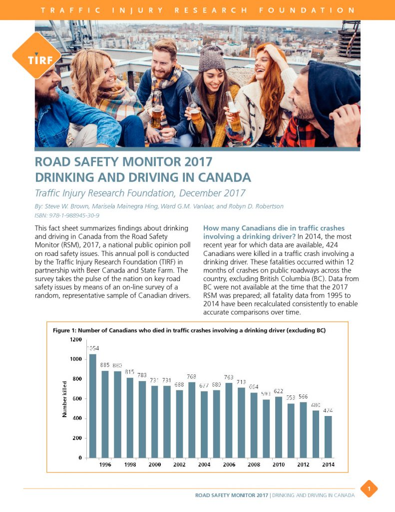Road Safety Monitor 2017: Drinking and Driving in Canada