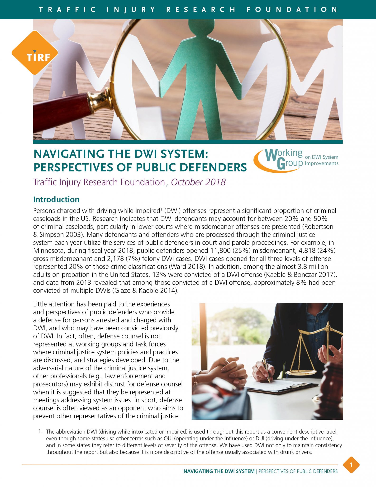 WG 2017 – Navigating the DWI System Perspectives of Public Defenders