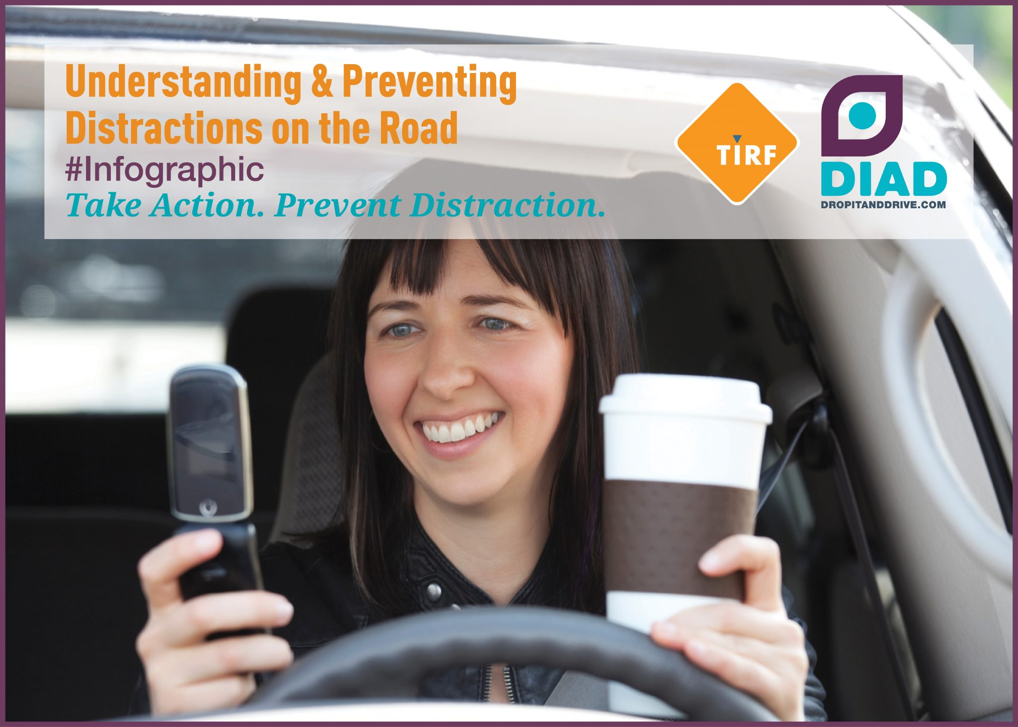Understanding & Preventing Distractions on the Road: #Infographic