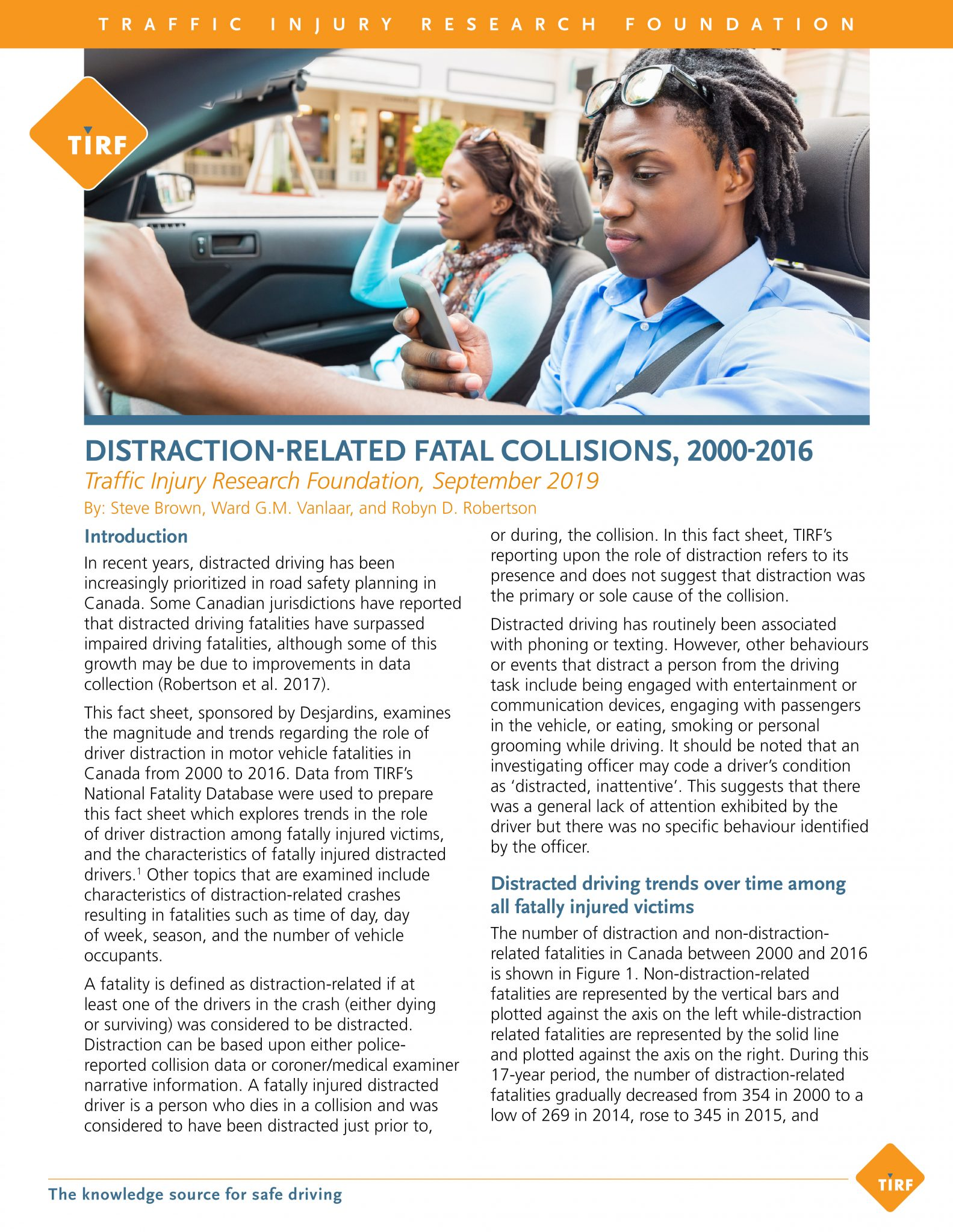 Distraction-Related Fatal Collisions, 2000-2016