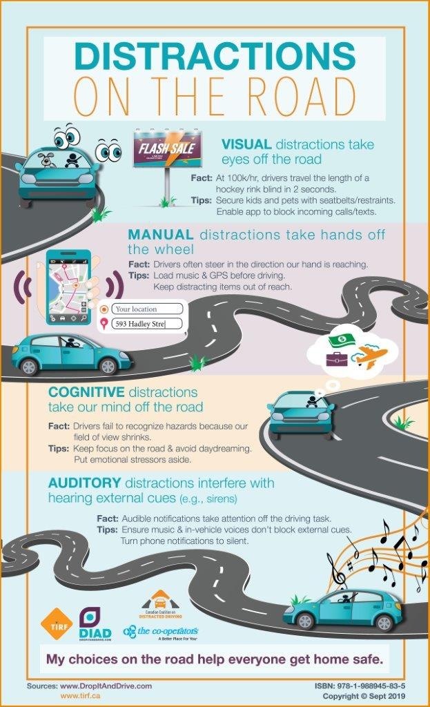 Distractions on the Road – Infographic