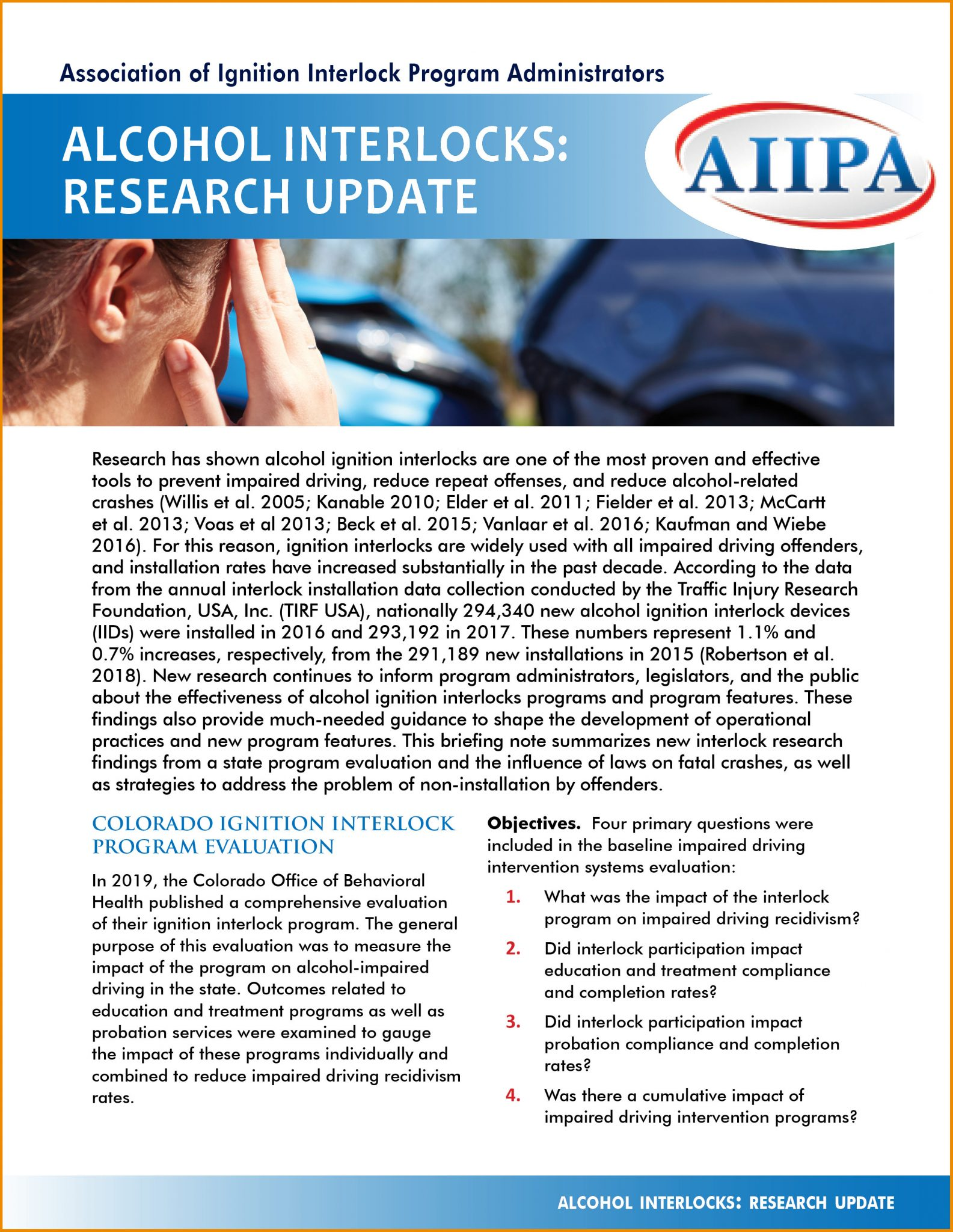 Alcohol Interlocks: Research Update