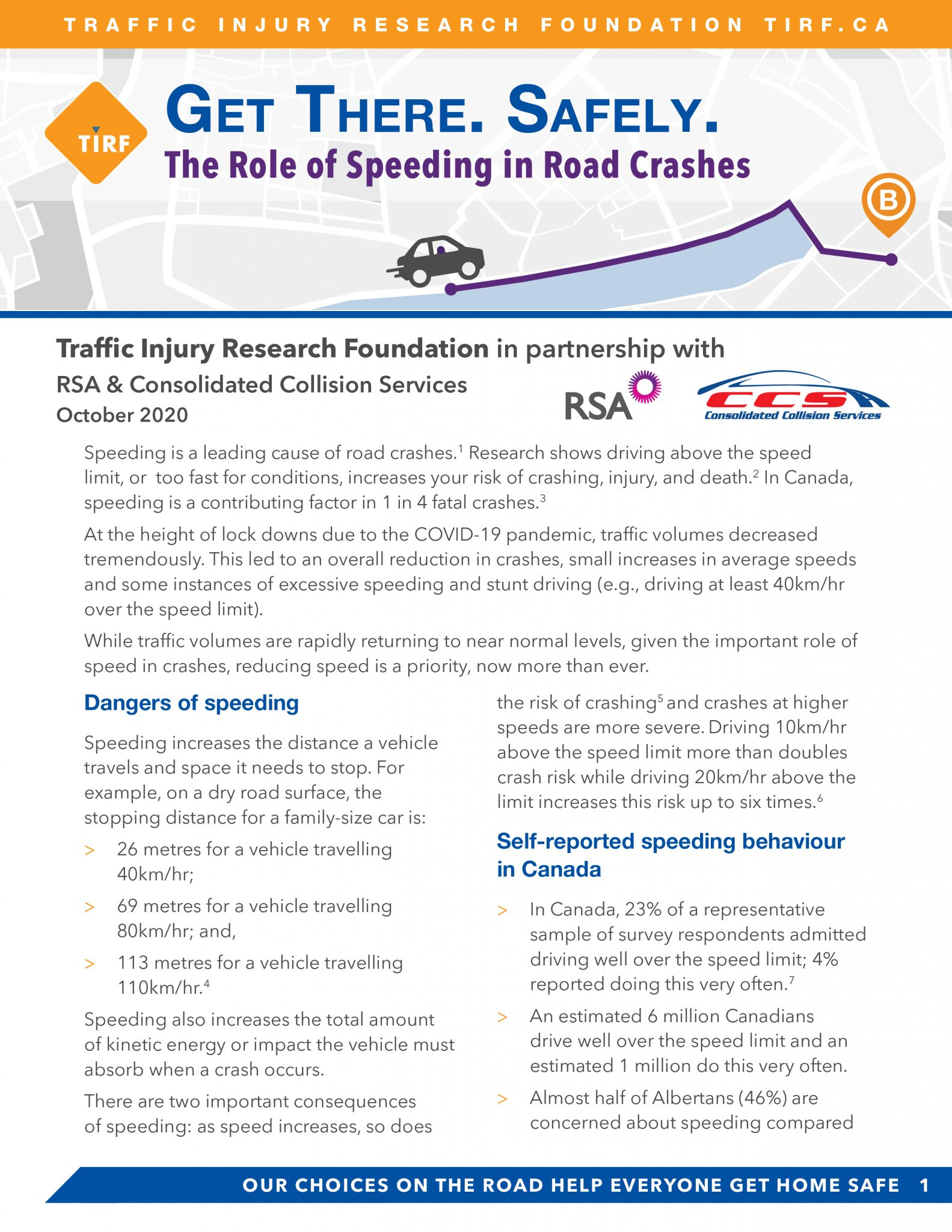 The Role of Speeding in Road Crashes