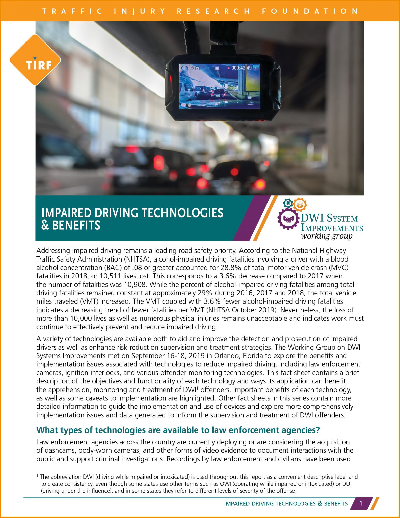 Impaired Driving Technologies & Benefits