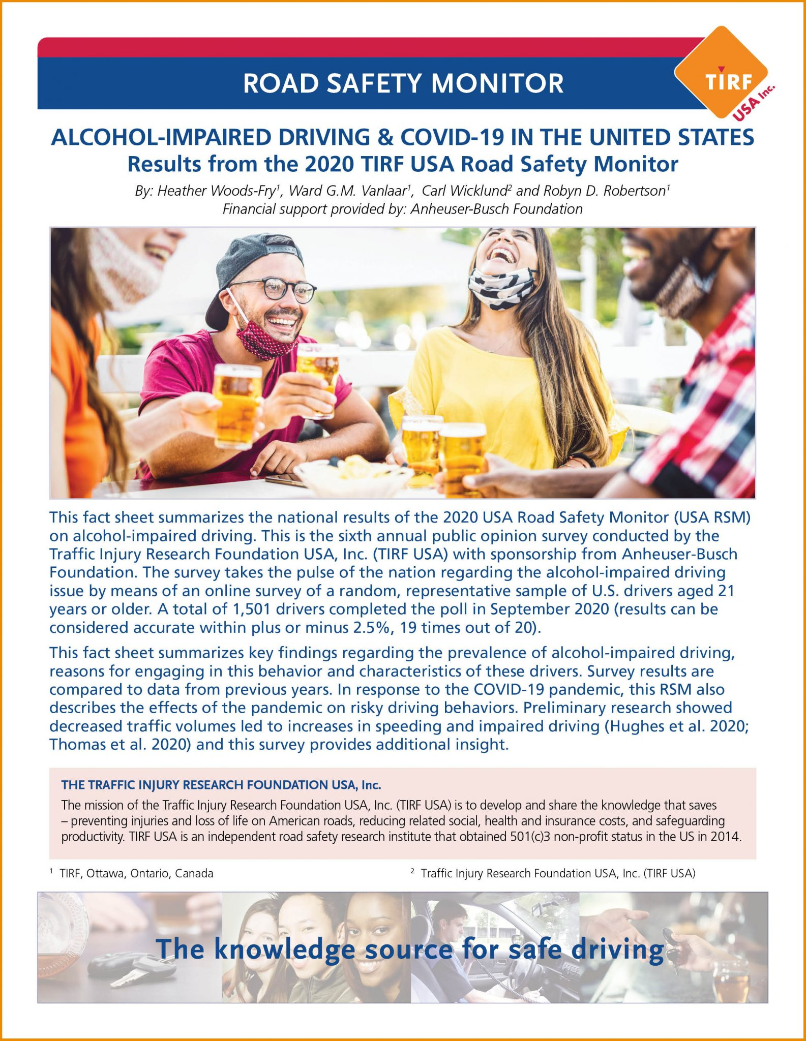 Road Safety Monitor: Alcohol-Impaired Driving & COVID-19 in the United States, 2020